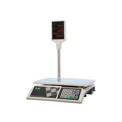 Отличительный особенности: светодиодные дисплеи продавца и покупателя, с индикацией веса, цены и стоимости.